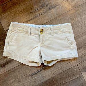 American eagle stretch khaki short shorts